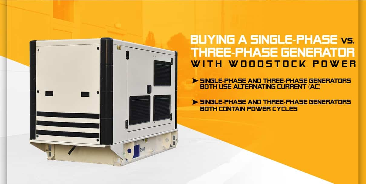 Buying a Single-Phase vs. 3-Phase Generator With Woodstock Power