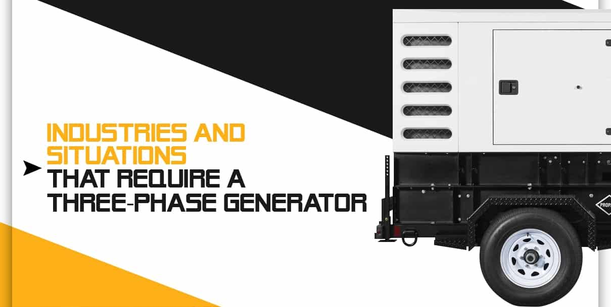 Industries and Situations That Usually Require a 3-Phase Generator