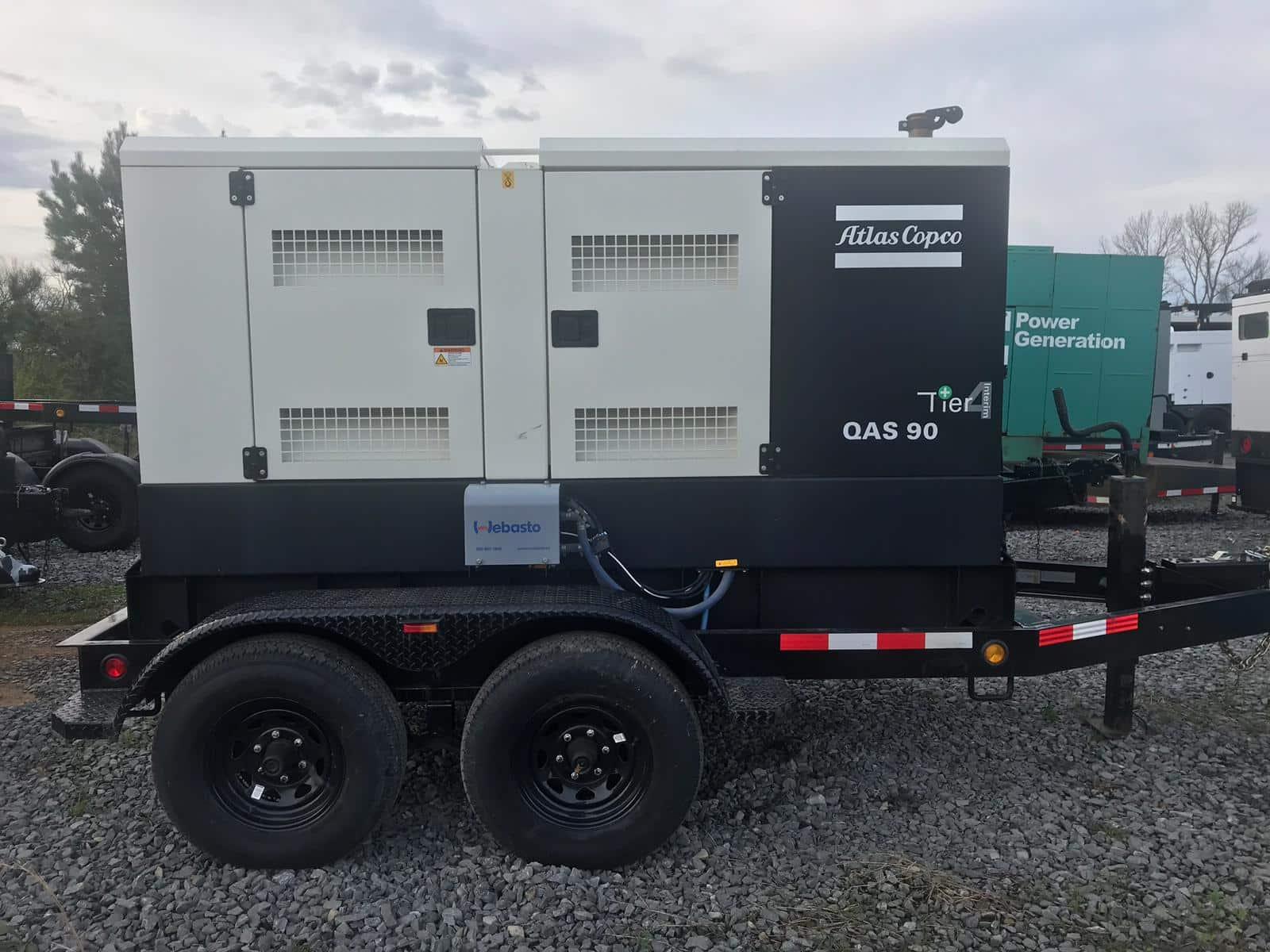 72 kW Atlas Copco Diesel Generator Rental – EPA Tier 4i Certified