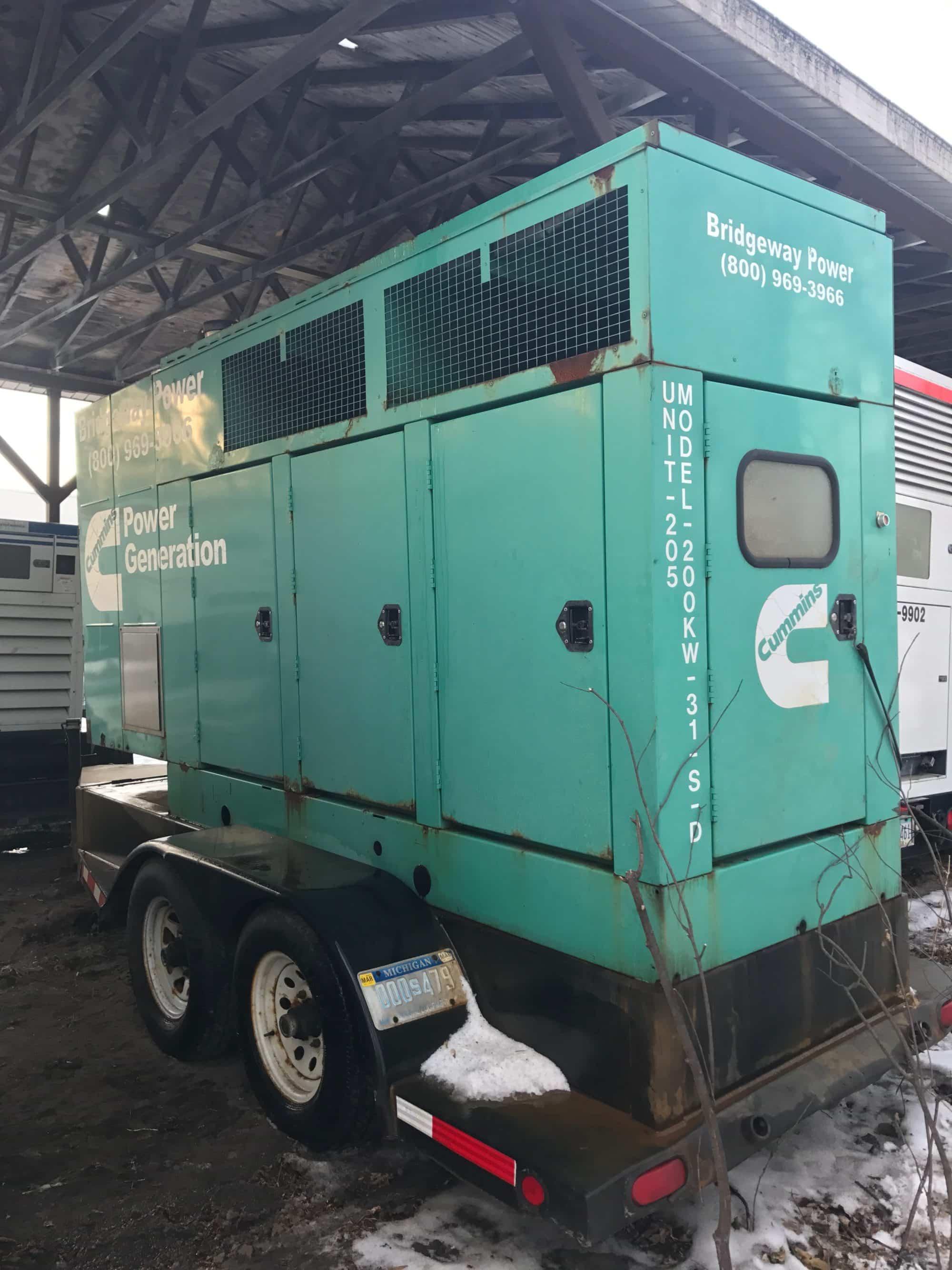 Used 200 kW Cummins/Onan 200DGFC Portable Diesel Generator Rental