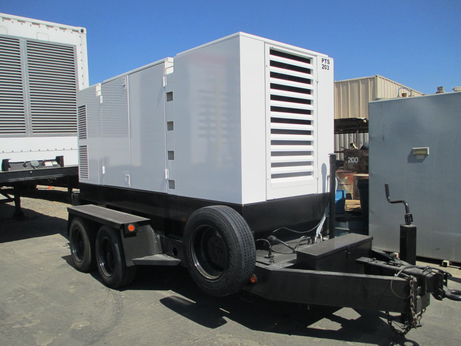 Used 300 kW Atlas Copco QAS338 Portable Diesel Rental Generator CARB Certified – 2 Available