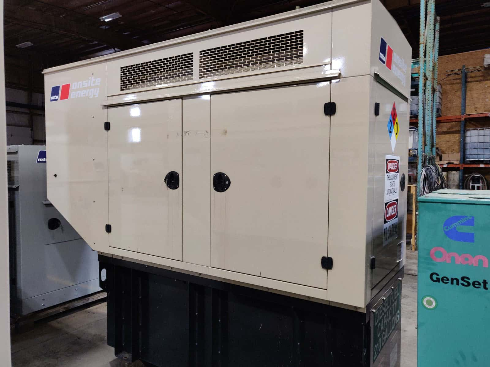 Used 50 kW MTU / John Deere Diesel Generator – EPA Tier 3 Rated – SOLD!