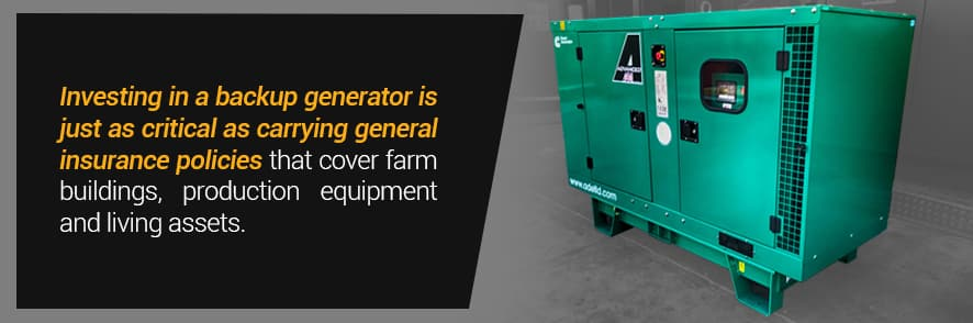 Backup Power Generator for Farms