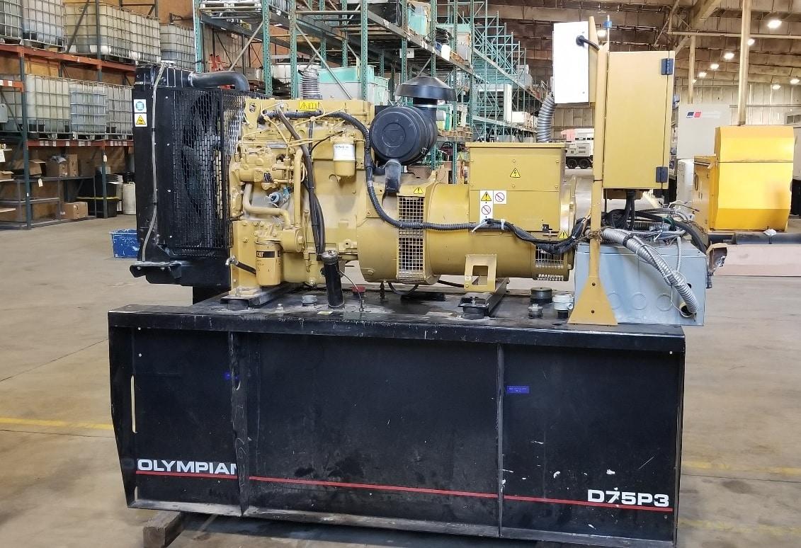 Used 75 kW Olympian Diesel Generator