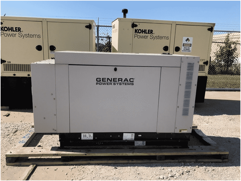Used 30 kW Generac SG030 Natural Gas Generator