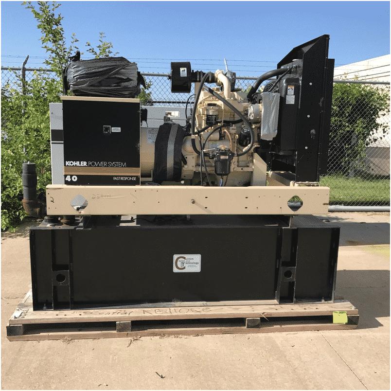 Used 37 kW Kohler 40REOZJB Diesel Generator