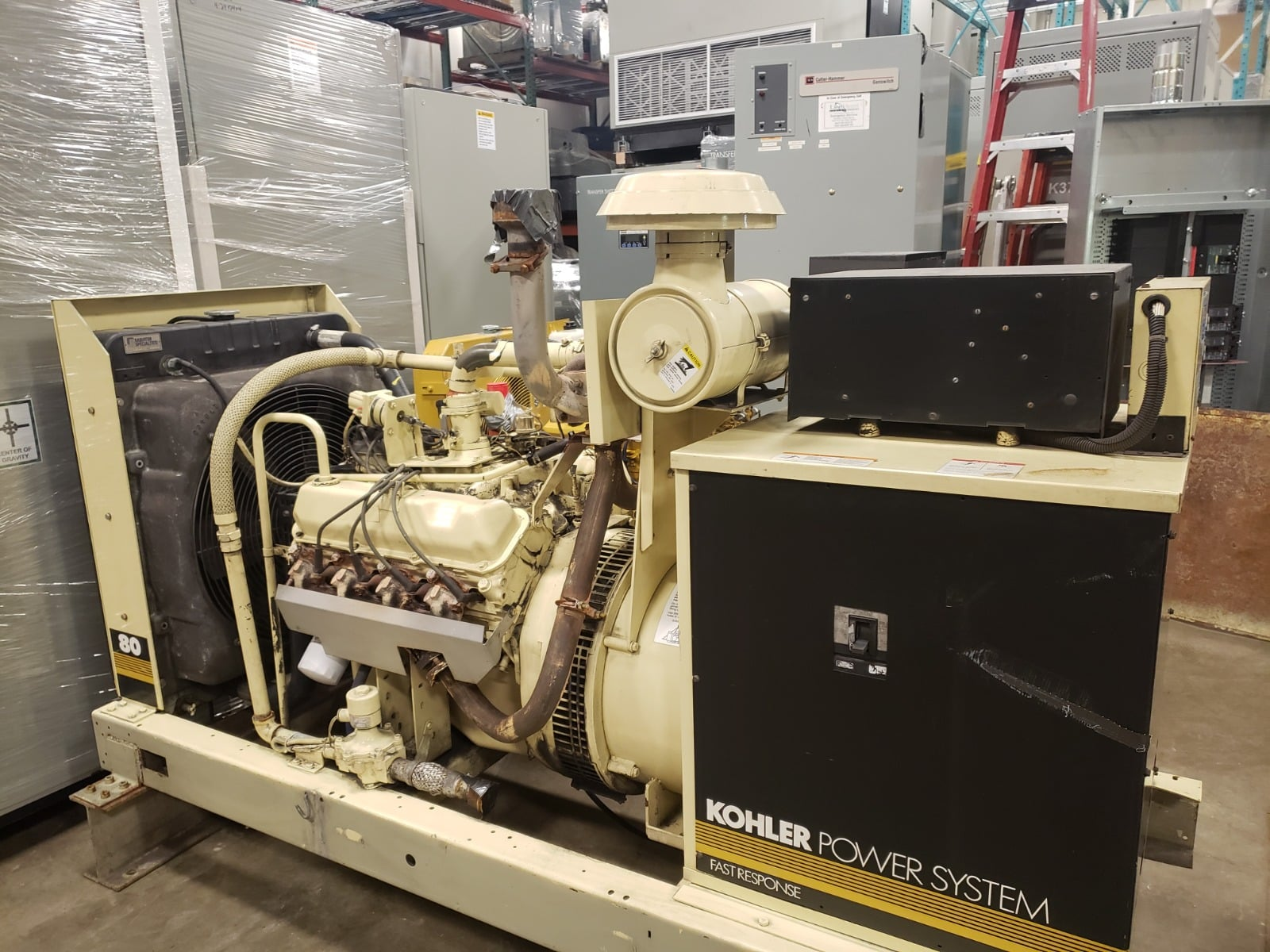 Used 80 kW Kohler 80RZ82 Natural Gas Generator