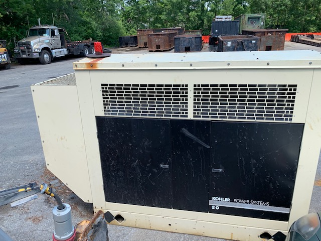 Used 48 kW Kohler 50RZGB Natural Gas Generator