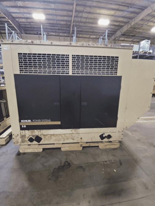 Used 48 kW Kohler 50RZGB Natural Gas Generator