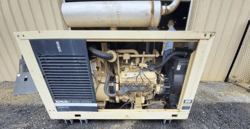 Used 80 kW Kohler 80RZ82 Natural Gas Generator