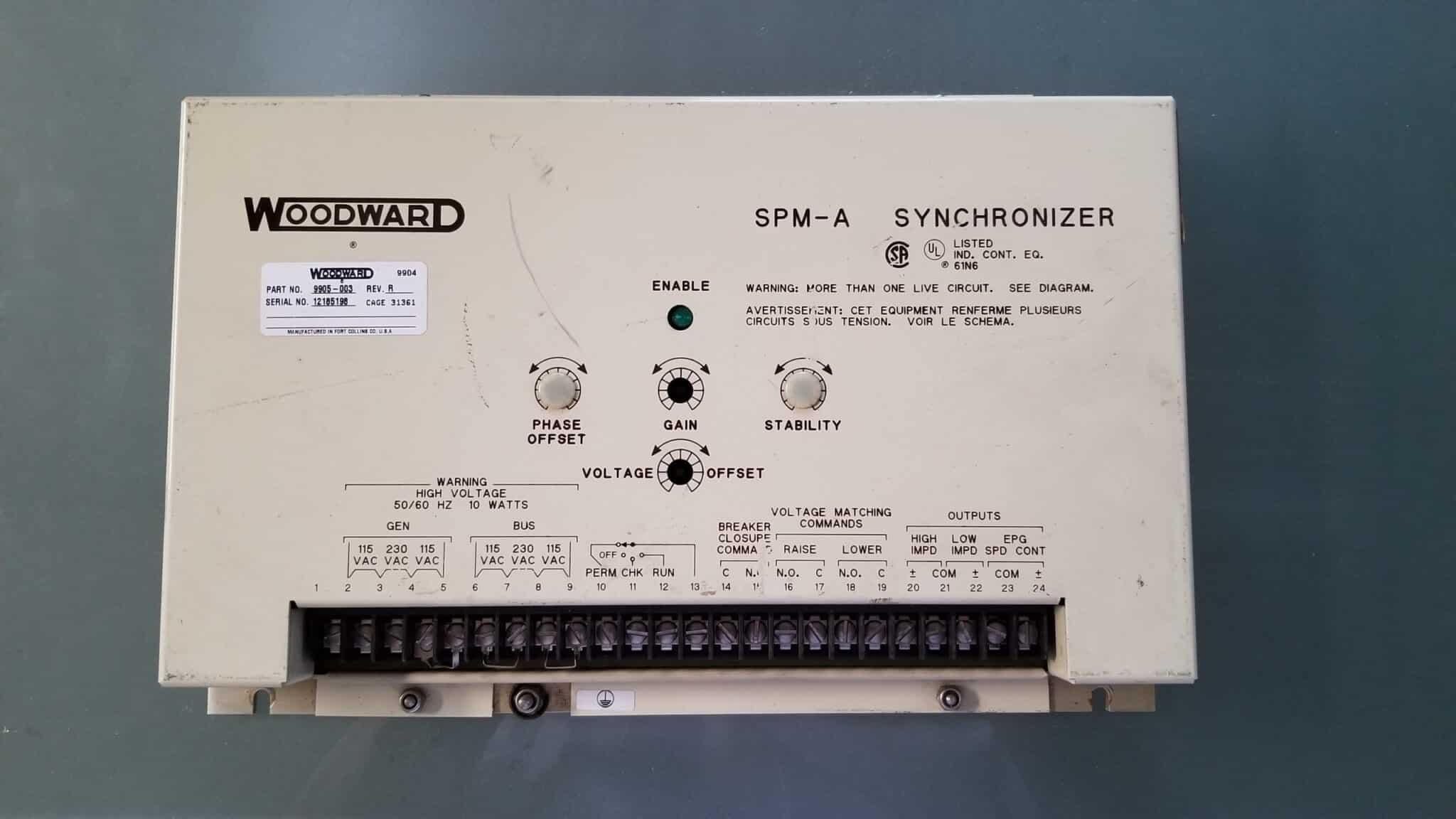 Used Woodward SPM-A Synchronizer 9905-003 Rev R