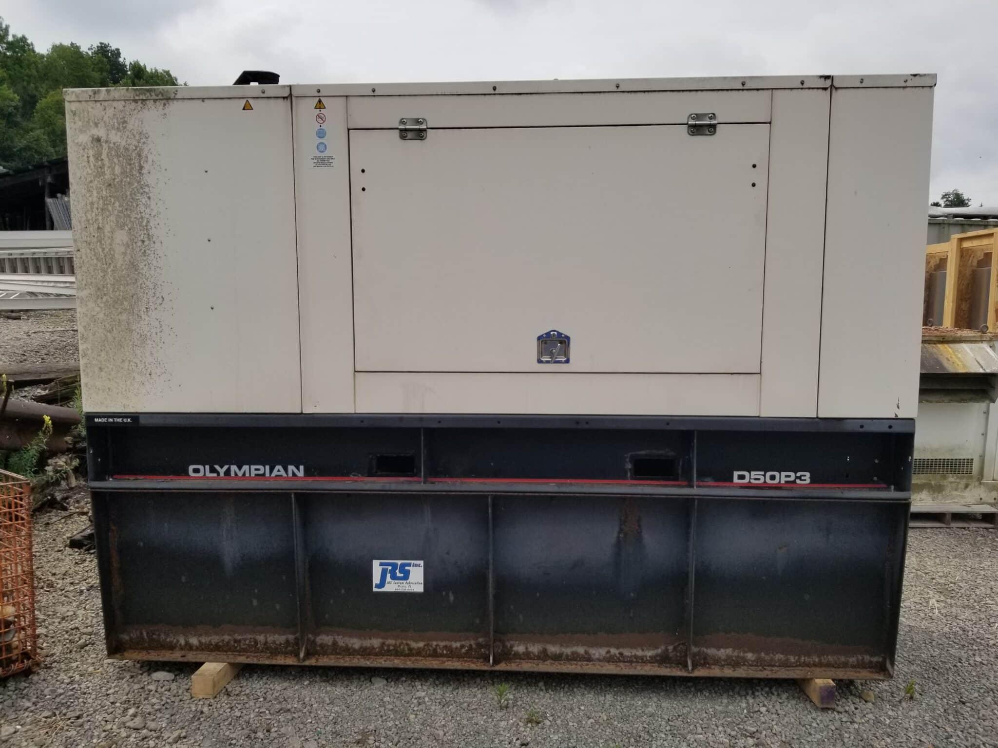 Used 50 kW Olympian D50P3I Diesel Generator