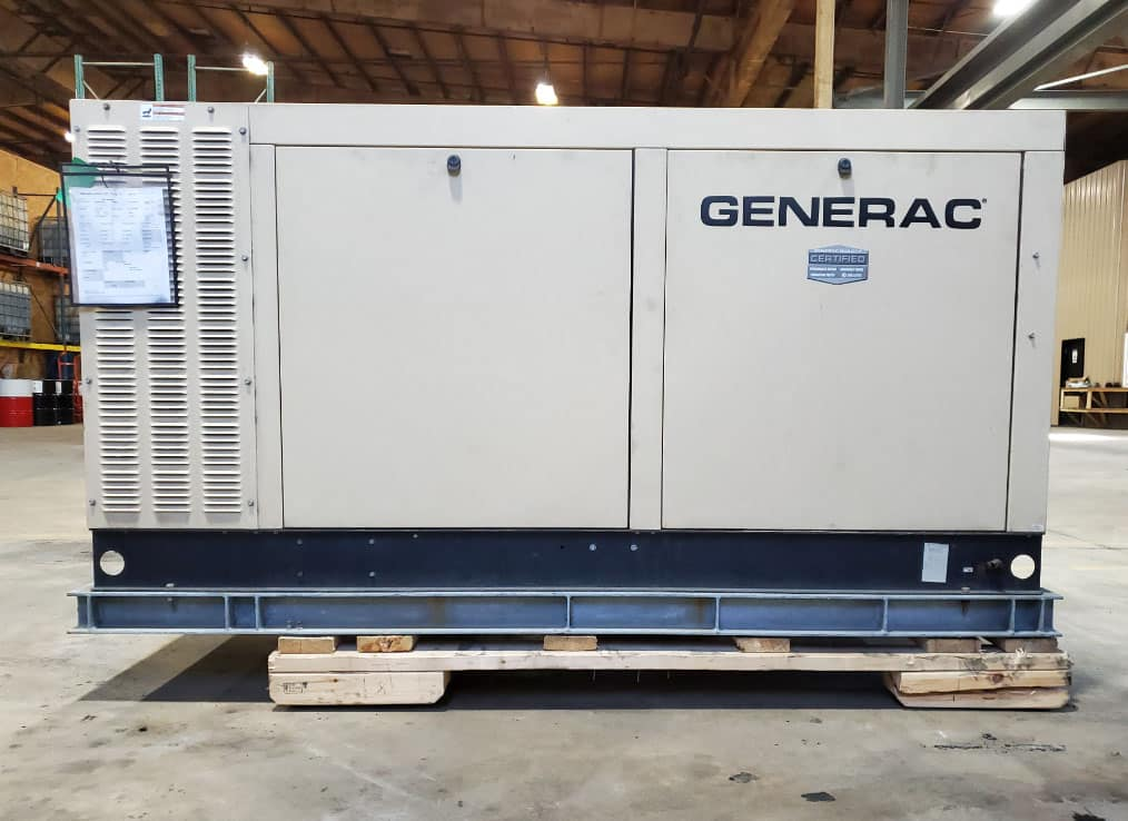 Used 70 kW Generac QT07068GNSNA Natural Gas Generator – EPA Certified – SOLD!