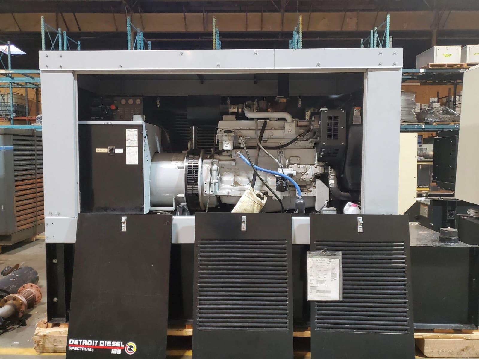 Used 125 kW Detroit Diesel 125DSEJB Diesel Generator – JUST IN!