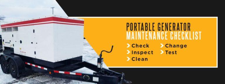 Portable Generator Maintenance Checklist