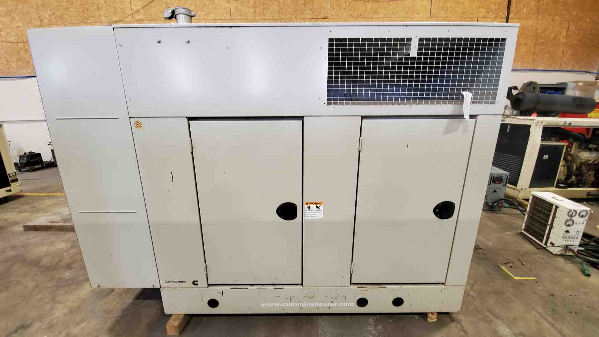 Used 70 kW Cummins GGHF Natural Gas Generator