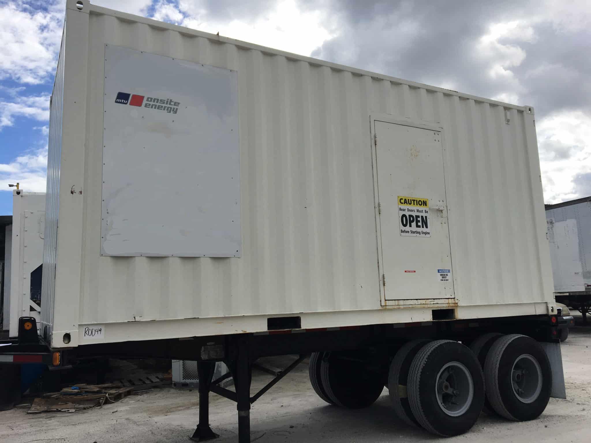 Used 400 kW MTU Detroit Series 60 Portable Rental Diesel Generator