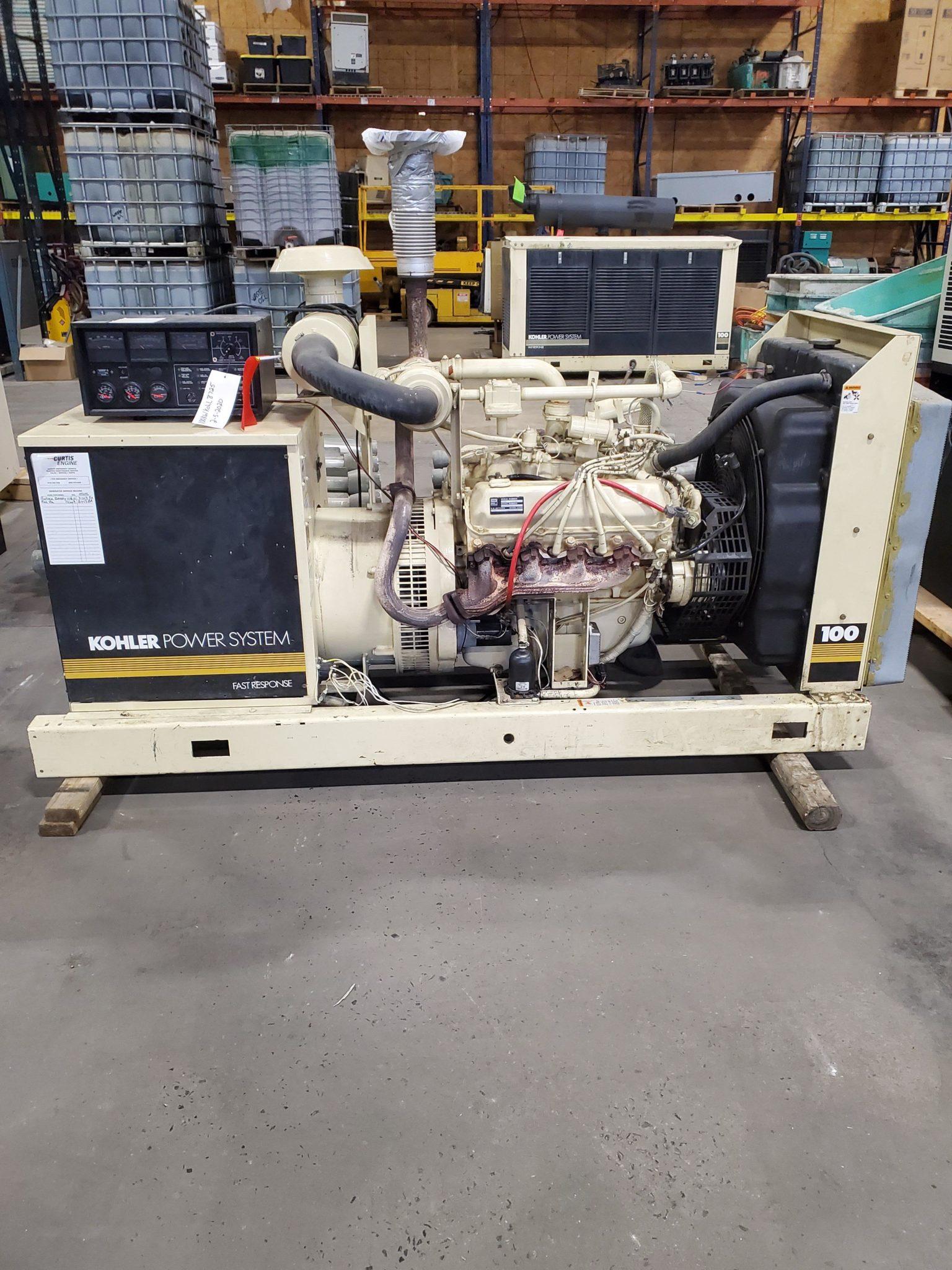 Used 100 kW Kohler 100RZ282 Natural Gas Generator