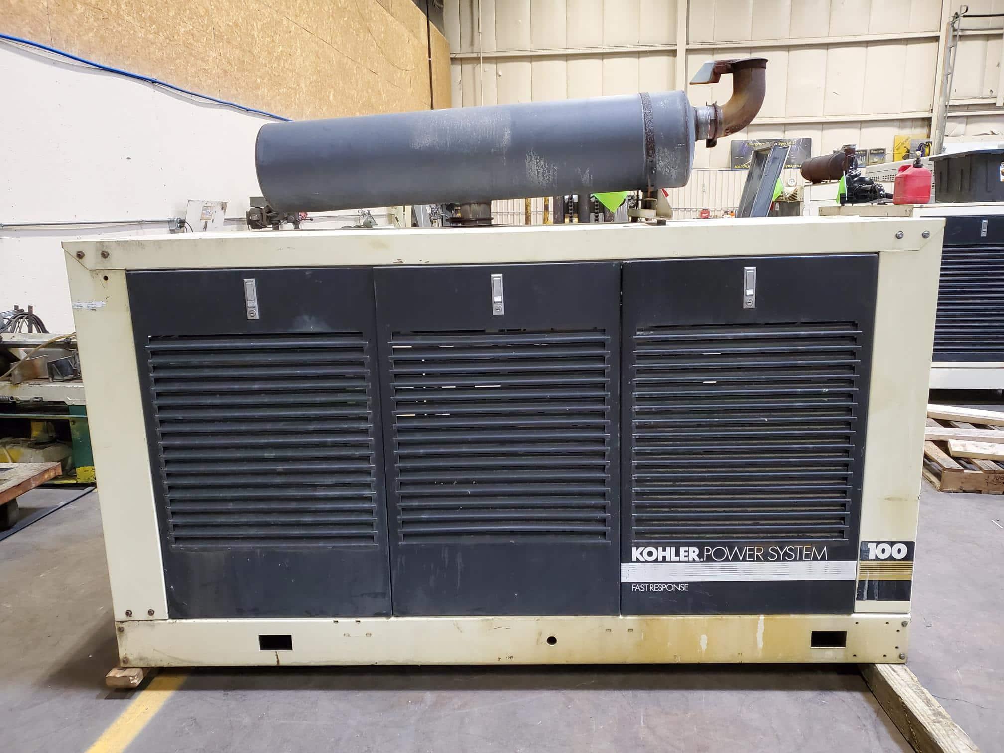Used 100 kW Kohler 100RZ71 Propane Generator