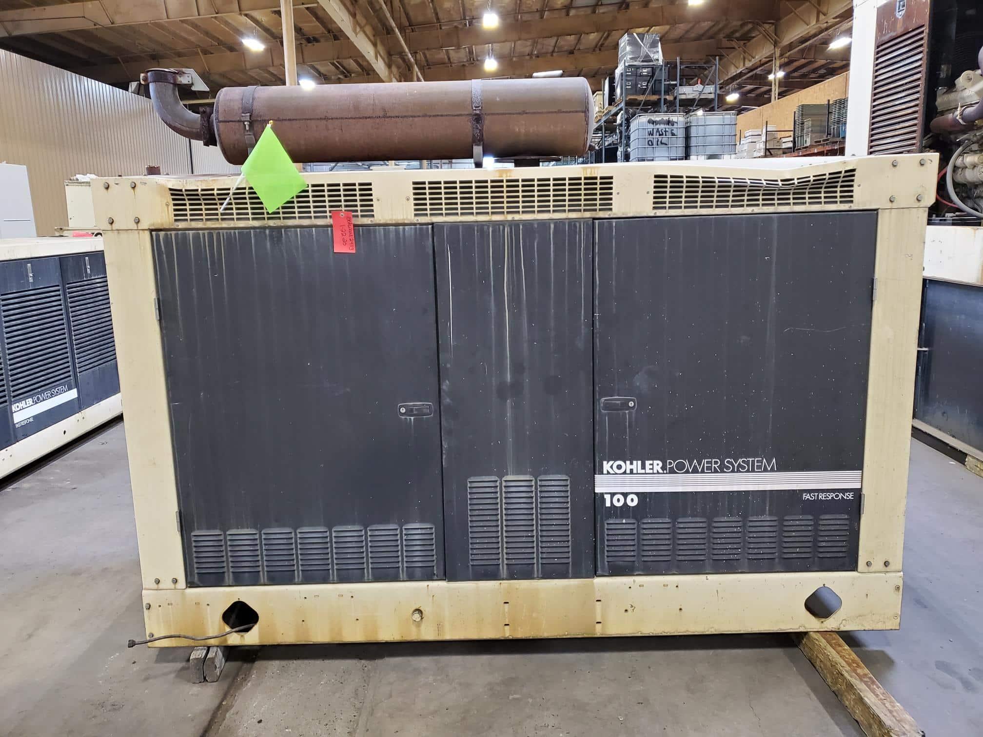 Used 100 kW Kohler 100RZG Propane Generator