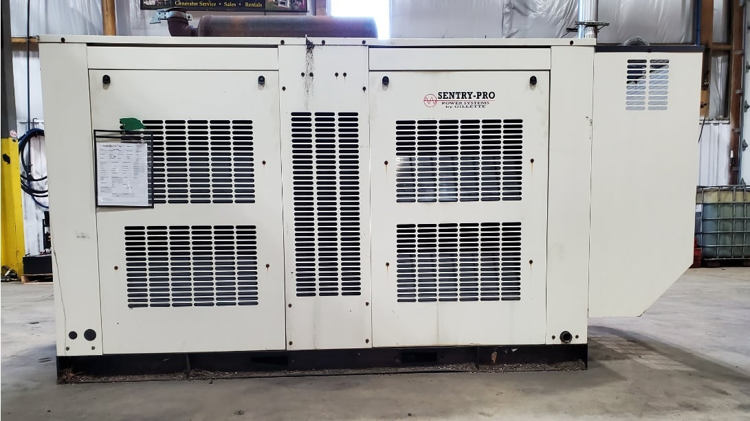 Used 75 kW Gilette SP850 Natural Gas Generator