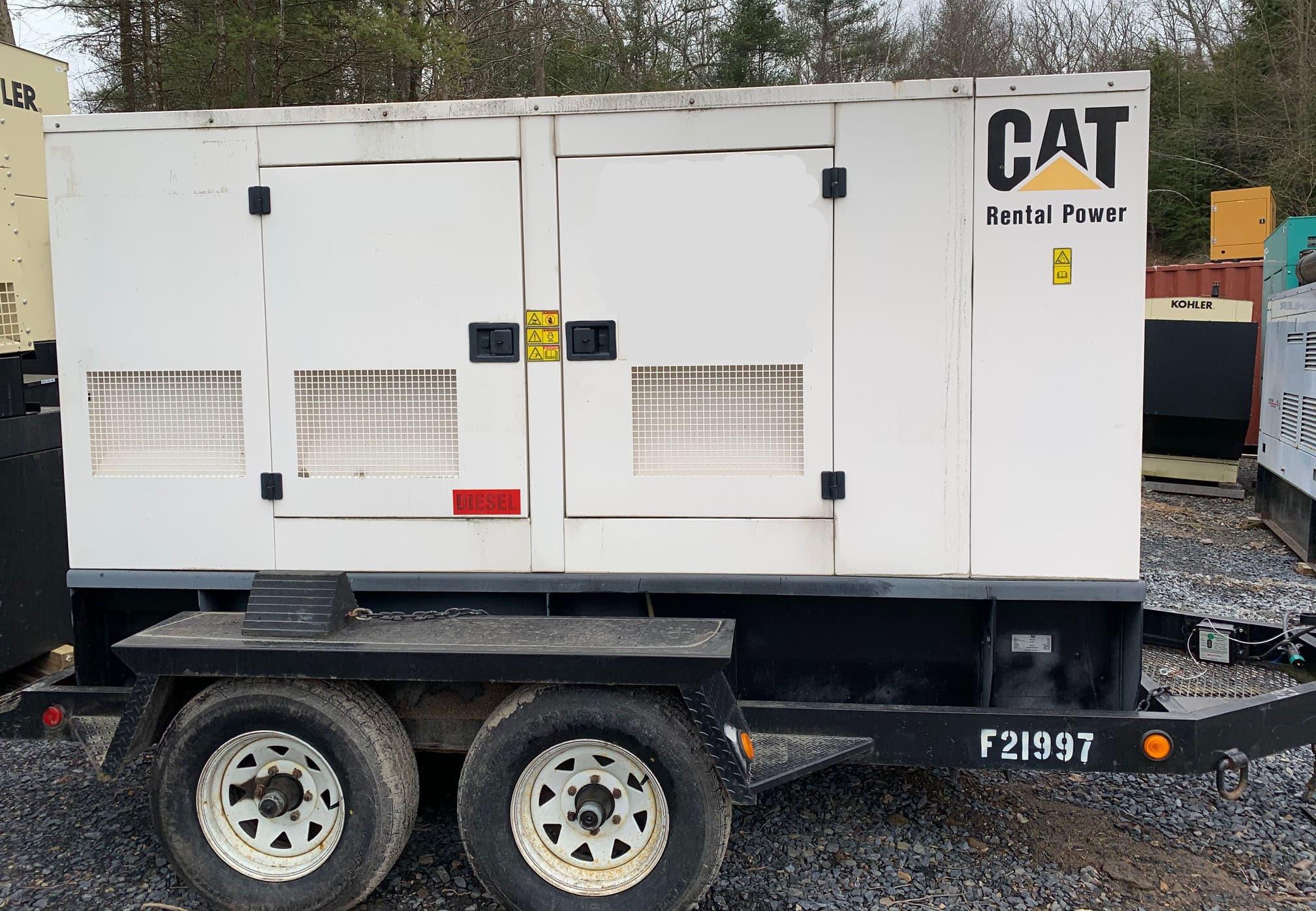 Used 100 kW CAT XQ100-4 Portable Diesel Generator – ON RENT