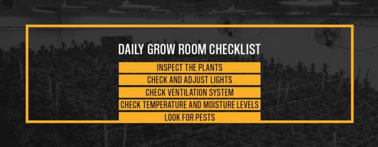 Daily Grow Room Checklist