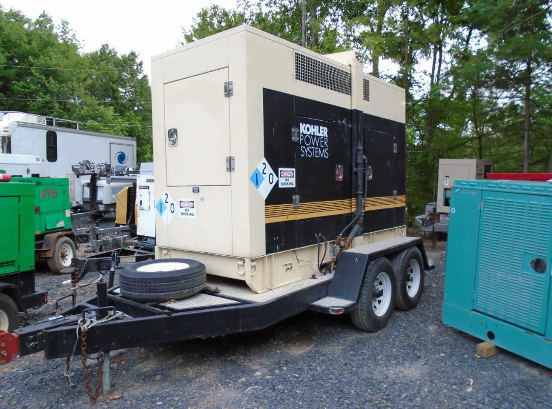 Used 180 kW Kohler 180ROZJ Portable Diesel Generator