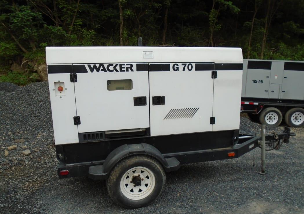 Used 57 kW Wacker Neuson G70 Portable PRIME Diesel Generator – EPA Tier 2 – SALE PENDING!