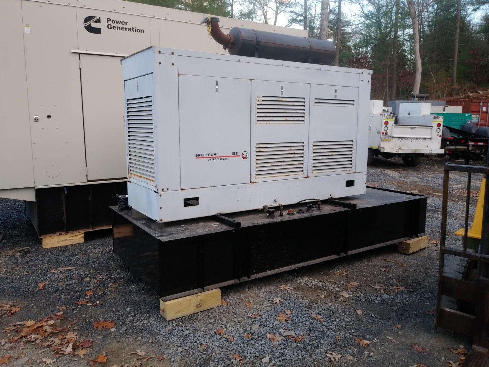 Used 125 kW Detroit Diesel 125DS60 Diesel Generator