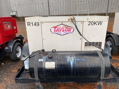 Used 20 kW Kubota GL Series Portable Diesel Generator