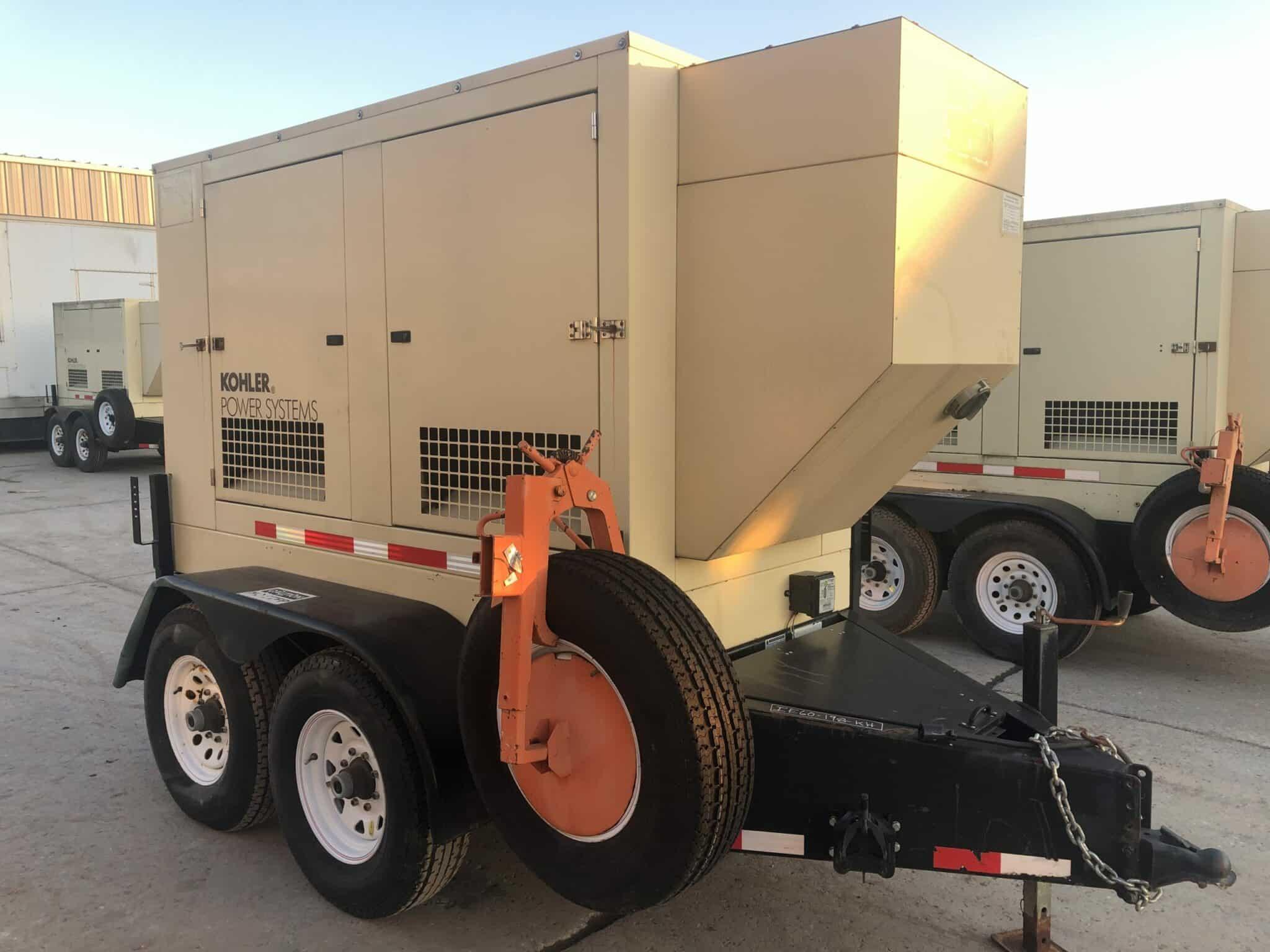 Used 50 kW Kohler 60REOZJB-NEX Portable Diesel Generators – EPA Tier 2 – 8 Available – COMING IN!