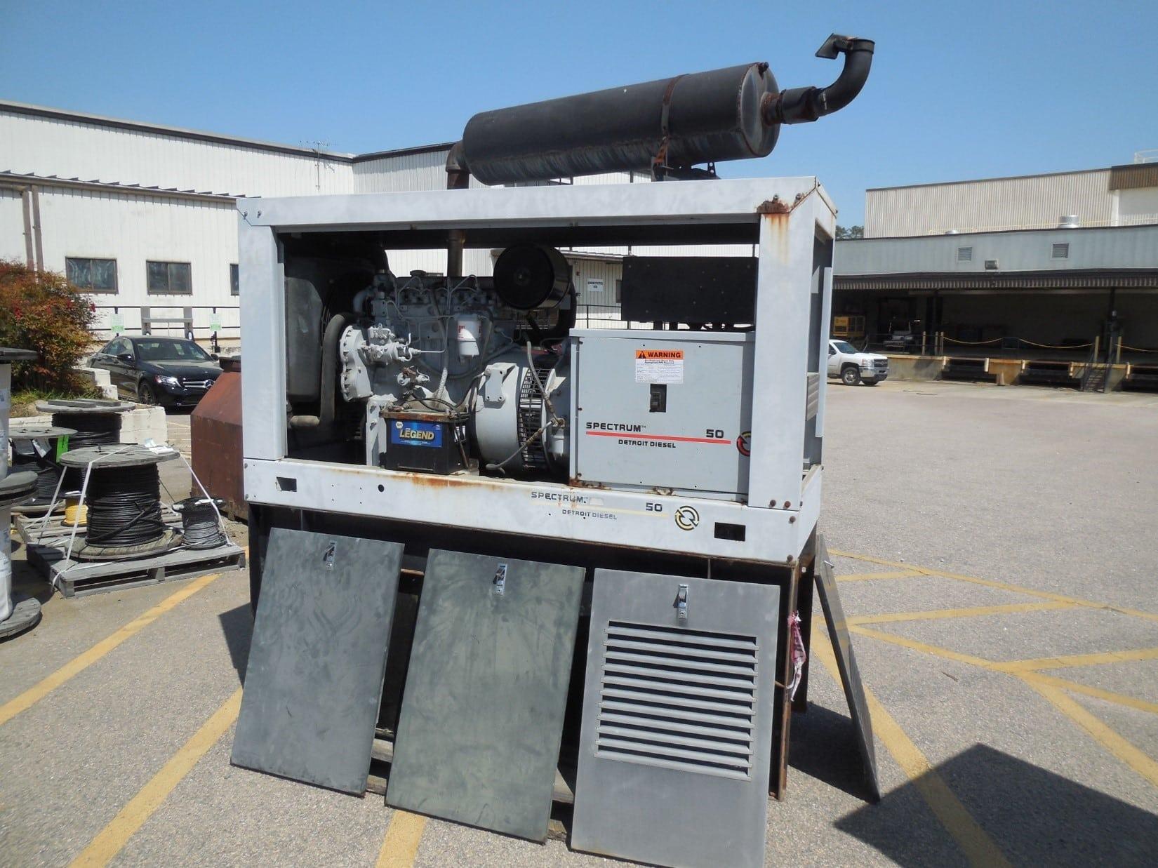 Used 55 kW Detroit Diesel 50DS Diesel Generator – SOLD!