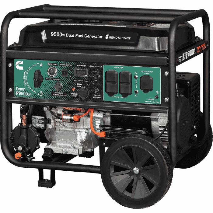 New 9.5 kW Onan P9500df 9500 Watt Dual Fuel (Gas/LPG) Portable Generator (40 Available) – COMING IN!