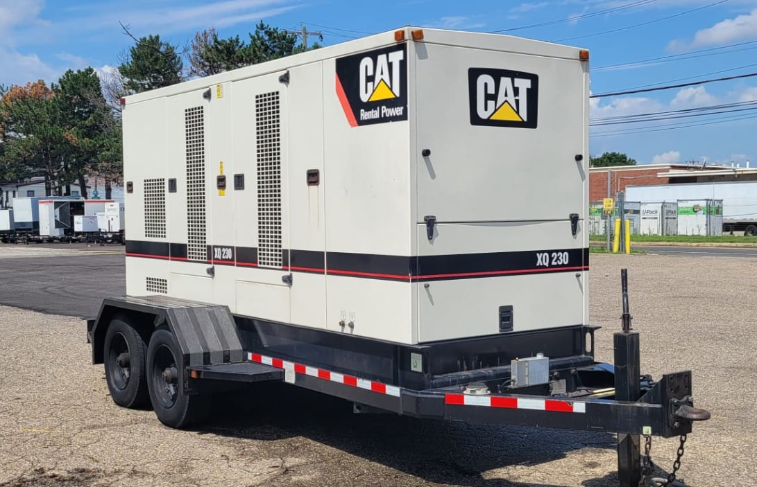 Used 230 kW CAT XQ230 Portable Diesel Generator