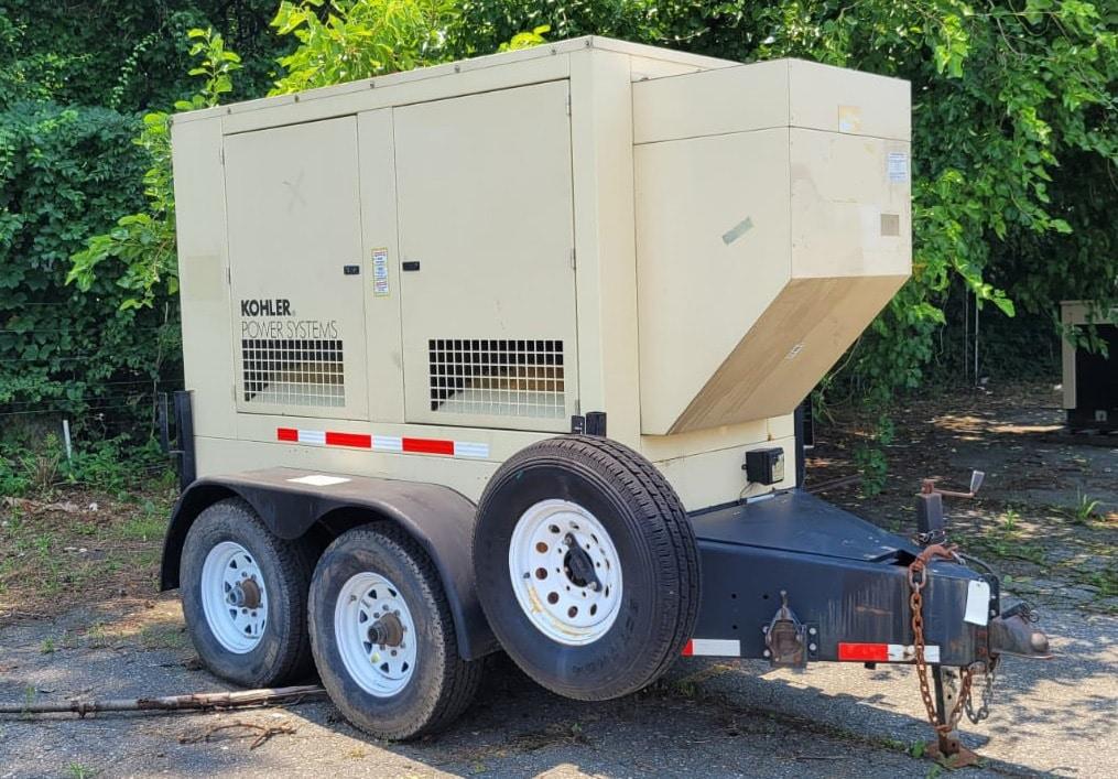 Used 50 kW Kohler 60REOZJB Portable Diesel Generator – EPA Tier 2
