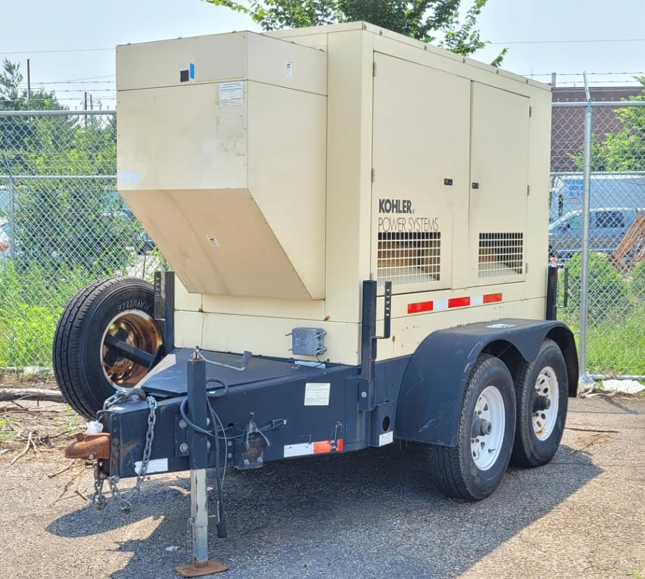 Used 50 kW Kohler 60REOZJB Portable Diesel Generator – EPA Tier 2 – SOLD!
